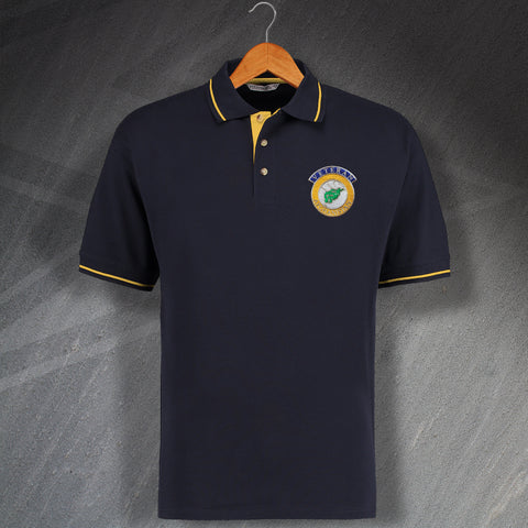 Afghanistan Veteran Embroidered Contrast Polo Shirt