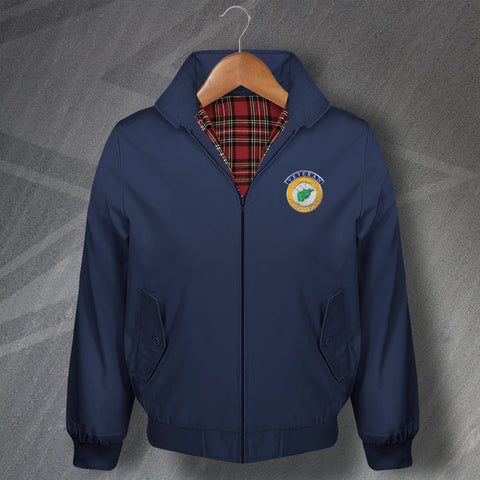 Afghanistan Veteran Classic Harrington Jacket with Embroidered Badge