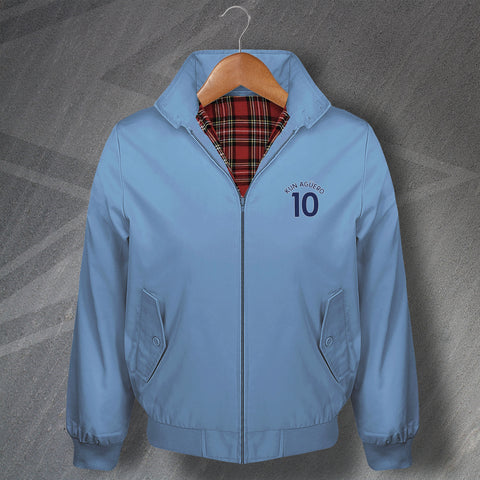 Aguero 10 Football Harrington Jacket Embroidered
