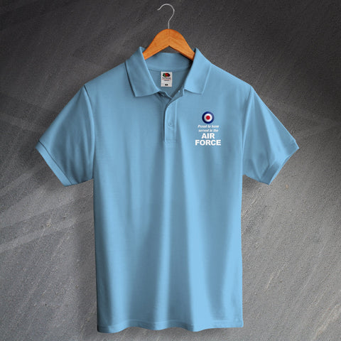 Air Force Polo Shirt Embroidered Proud to Have Served