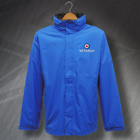 RAF Jacket Embroidered Waterproof Roundel Veteran