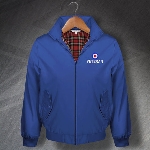 RAF Harrington Jacket Embroidered Roundel Veteran