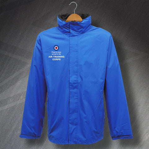 Proud to Have Served In The Air Training Corps Embroidered Waterproof Jacket