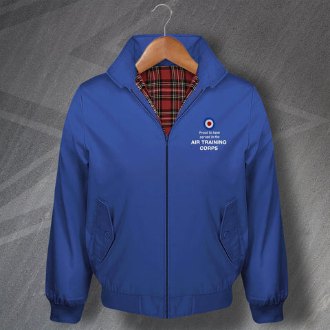 Proud to Have Served in The Air Training Corps Embroidered Classic Harrington Jacket