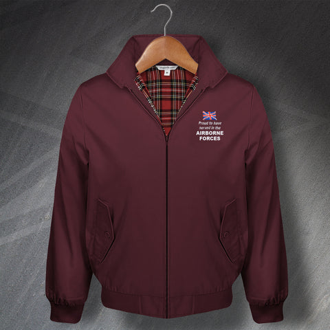 Proud to Have Served In The Airborne Forces Embroidered Classic Harrington Jacket