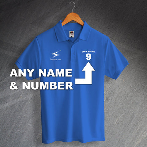 Personalised Sloganite Polo Shirt with any Name & Number