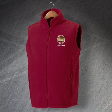 Retro Arbroath Fleece Gilet with Embroidered Badge