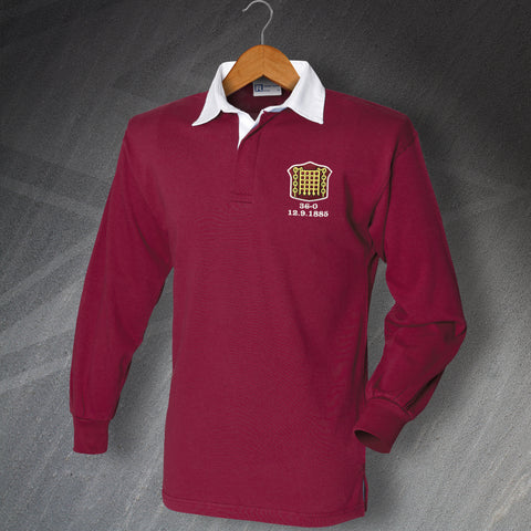 Retro Arbroath Long Sleeve Football Shirt with Embroidered Badge
