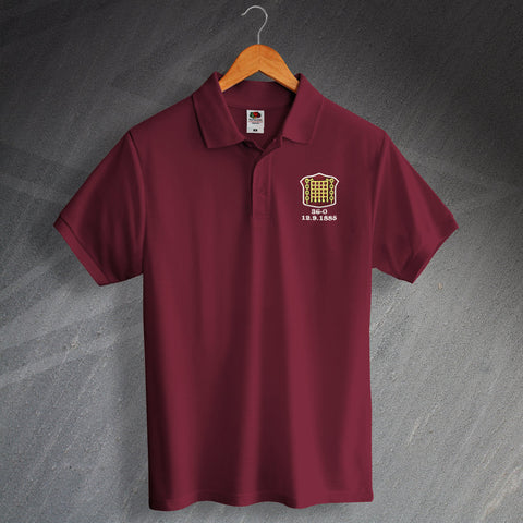 Retro Arbroath Polo Shirt with Embroidered Badge