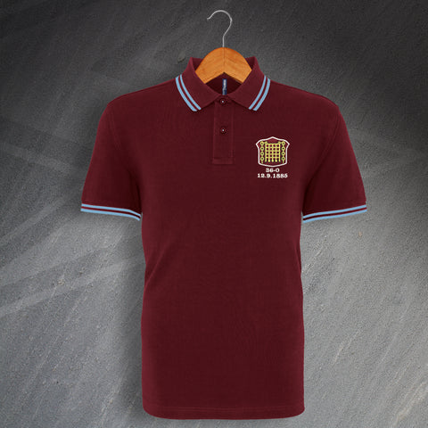 Retro Arbroath Embroidered Tipped Polo Shirt