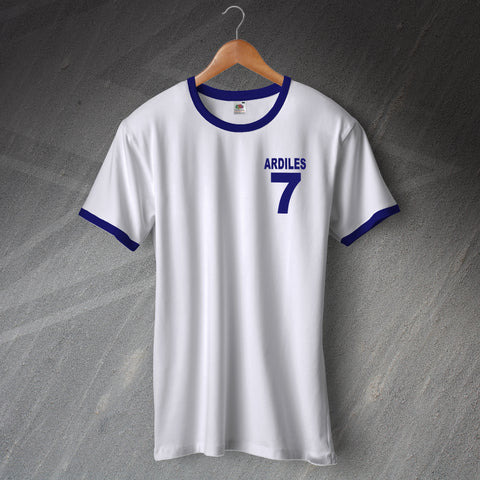 Tottenham Football Shirt Embroidered Ringer Ardiles 7