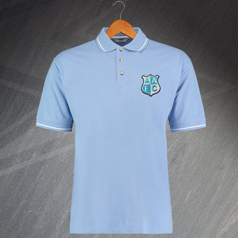 City Football Polo Shirt Embroidered Contrast Ardwick AFC