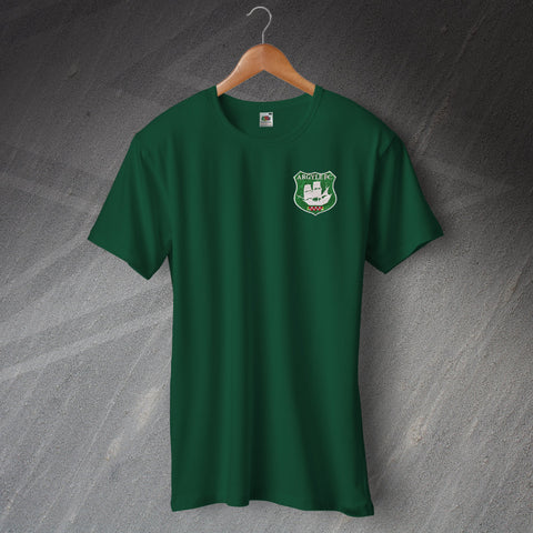 Plymouth Football T-Shirt Embroidered Ringer Argyle FC