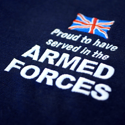 Proud to Have Served In The Armed Forces Embroidered Sweatshirt