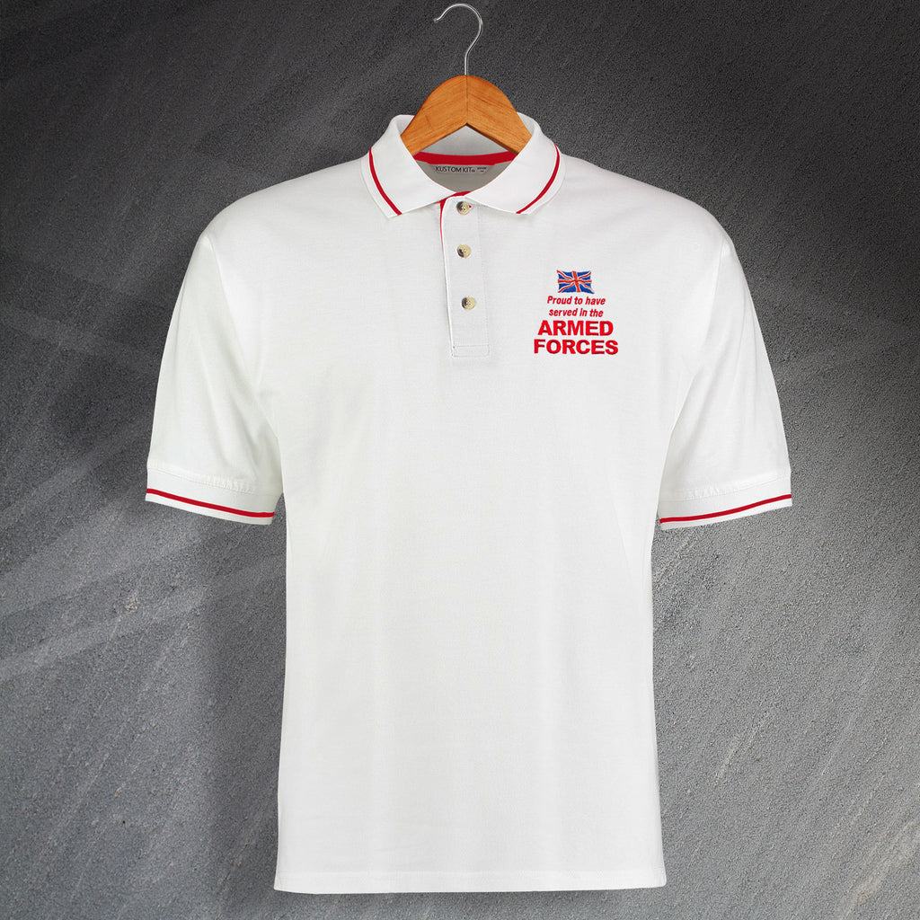 Armed Forces Contrast Polo Shirt