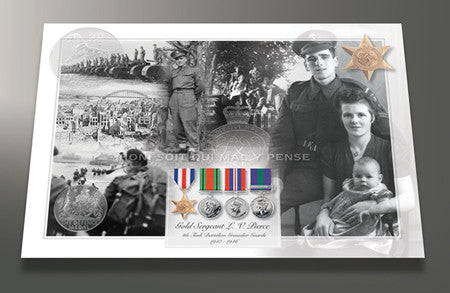 Armed Forces Veteran Photomontage Print Personalised with Service Details