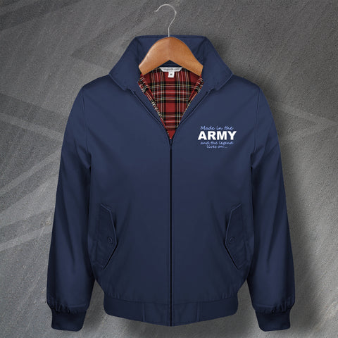 Army Harrington Jacket Embroidered Made in The Army and The Legend Lives On