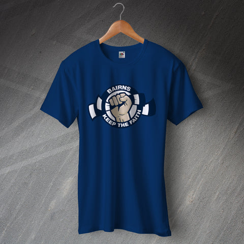 Falkirk Football T-Shirt Bairns Keep The Faith