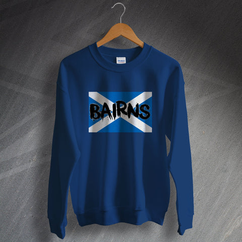 Falkirk Football Sweatshirt Bairns Grunge Flag of Scotland