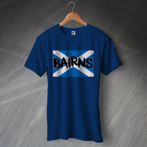 Falkirk Football T-Shirt Bairns Grunge Flag of Scotland