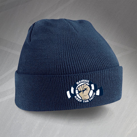 Falkirk Football Beanie Hat Embroidered Bairns Keep The Faith
