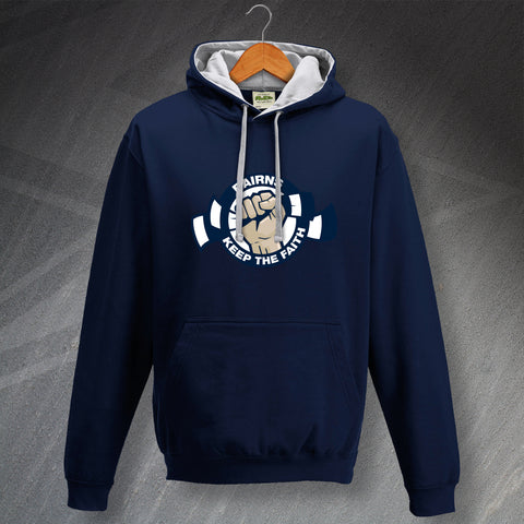 Falkirk Football Hoodie Contrast Bairns Keep The Faith