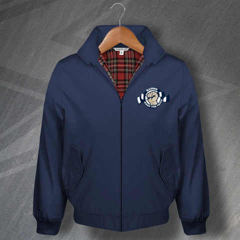 Falkirk Football Harrington Jacket Embroidered Bairns Keep The Faith