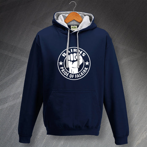 Falkirk Football Hoodie Contrast Bairns Pride of Falkirk