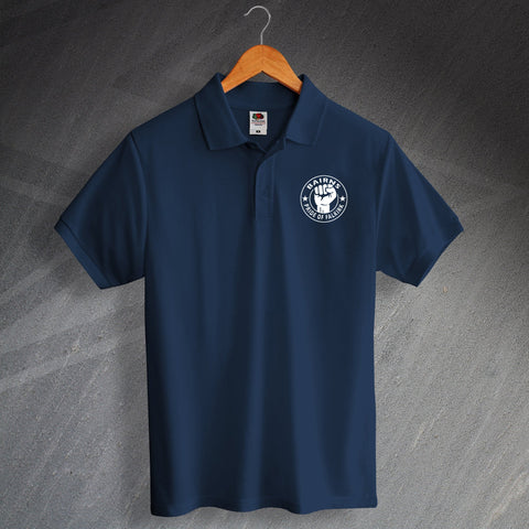 Falkirk Football Polo Shirt Printed Bairns Pride of Falkirk