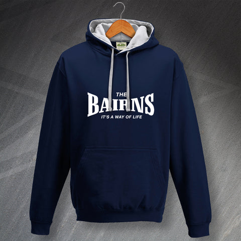 Falkirk Football Hoodie Contrast The Bairns It's a Way of Life