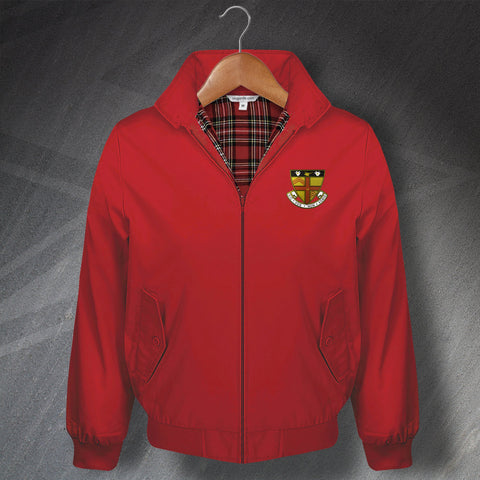 Retro Baldock Town Classic Harrington Jacket with Embroidered Badge