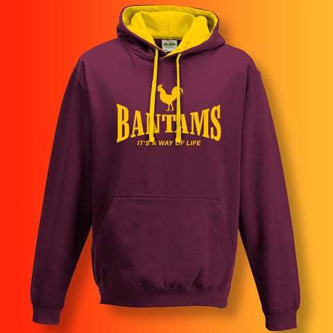 Bantams It's a Way of Life Contrast Hoodie