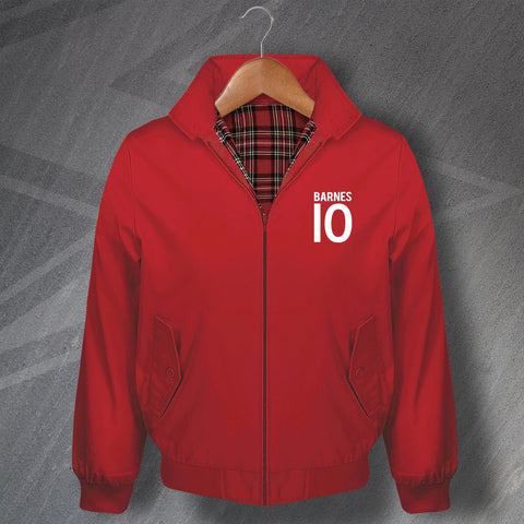Barnes 10 Football Harrington Jacket Embroidered