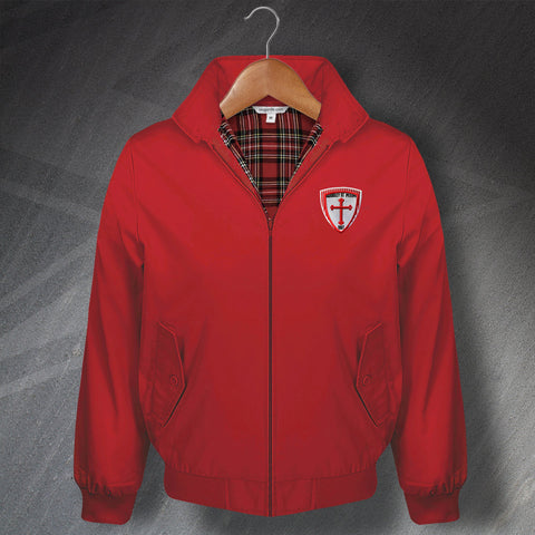 Barnsley Football Harrington Jacket Embroidered Barnsley St. Peters