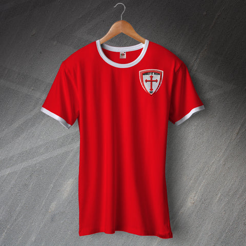 Barnsley Football Shirt Embroidered Ringer Barnsley St. Peters