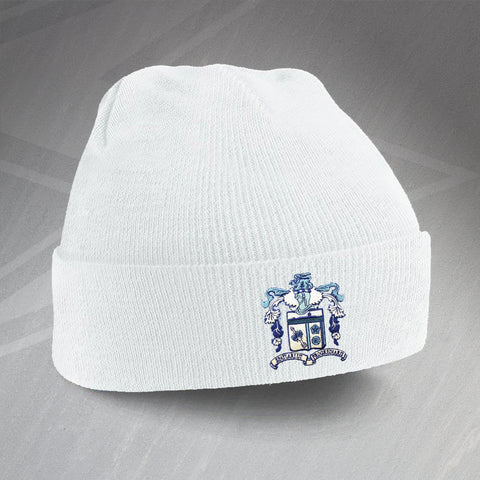 Barrow Football Beanie Hat Embroidered 1950s