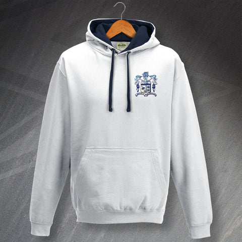 Barrow Football Hoodie Embroidered Contrast 1950s
