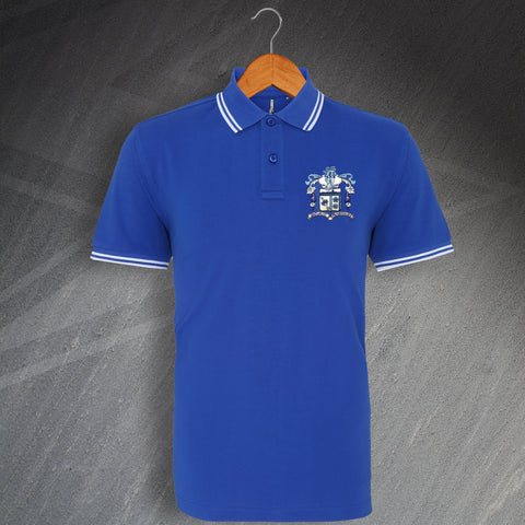 Barrow Football Polo Shirt Embroidered Tipped 1950s