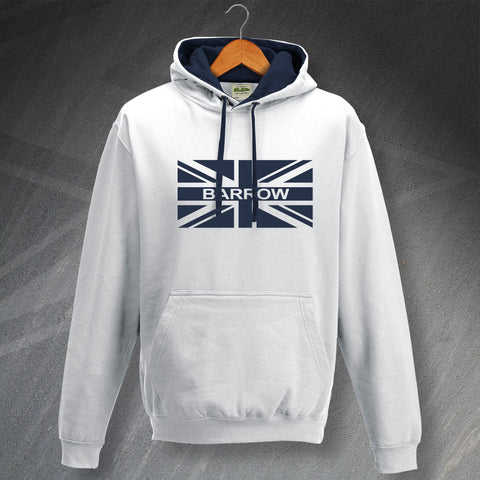 Barrow Football Hoodie Contrast Union Jack