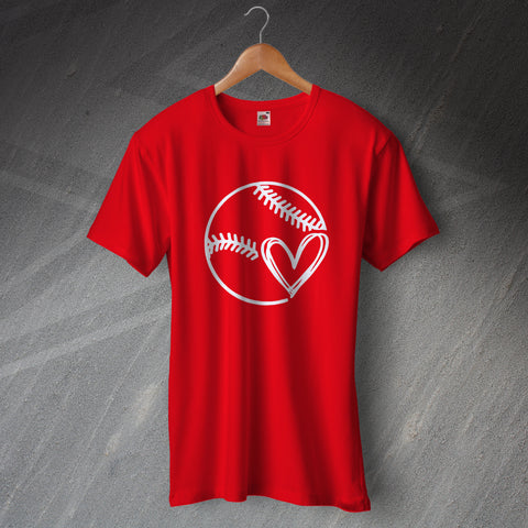 Baseball T-Shirt Baseball Heart