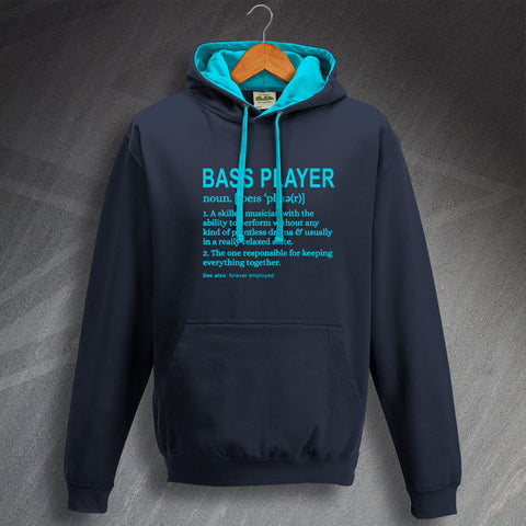 Bassist Hoodie Contrast Bass Player Meaning