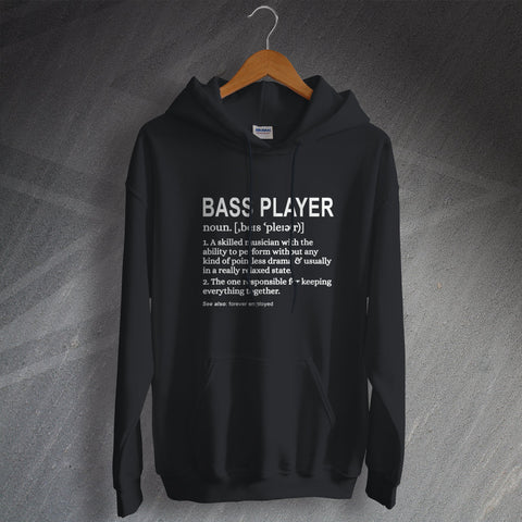 Bassist Hoodie Bass Player Meaning