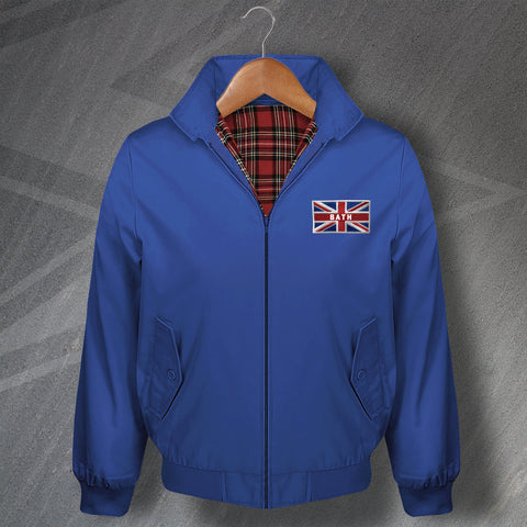 Bath Harrington Jacket Embroidered Coloured Union Jack