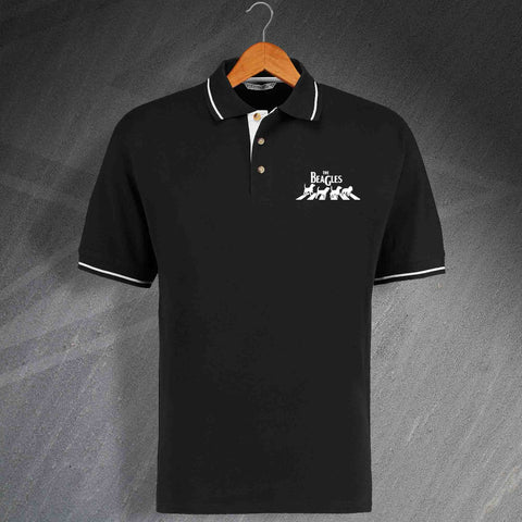 The Beagles Embroidered Contrast Polo Shirt