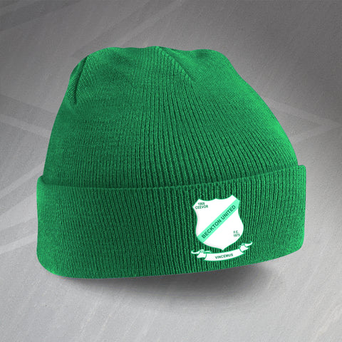 Beckton United Football Beanie Hat Embroidered