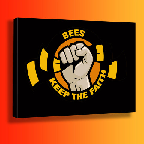 Bees Keep The Faith Canvas Print