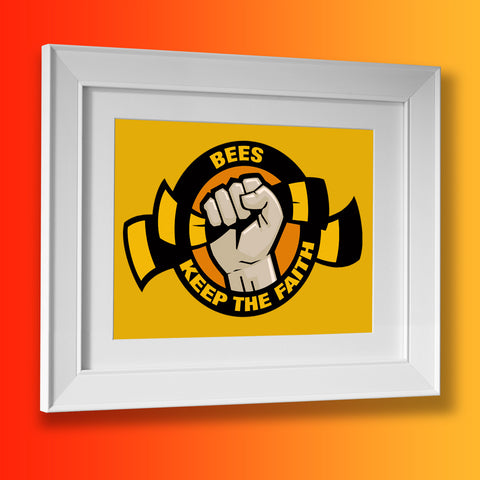Bees Keep The Faith Framed Print