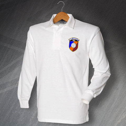 Retro Belmont FC Long Sleeve Football Shirt with Embroidered Badge