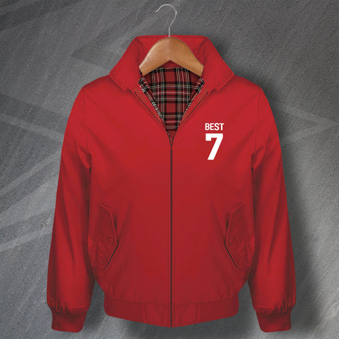 Best 7 Football Harrington Jacket Embroidered