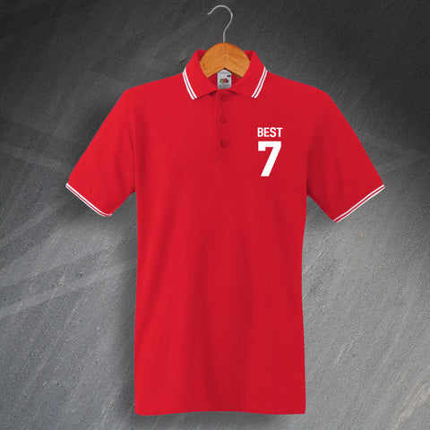 Best 7 Embroidered Tipped Polo Shirt